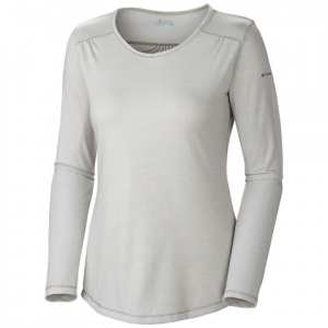 Columbia Women ' S Thistle Ridge Long Sleeve Tee ( Plus Size ) - Charcoal