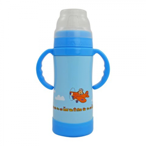 Eco Vessel Insulated Stainless Steel Sippy Cup 10 Oz - Blue Dog Plane