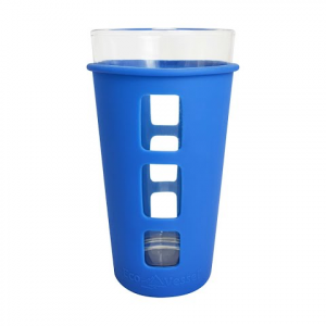 Eco Vessel Vibe Pint Glass With Silicone Sleeve - Moody Blue
