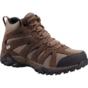 Columbia Men ' S Grand Canyon Mid Outdry Hiking Shoes - Pebble / Bright Copper