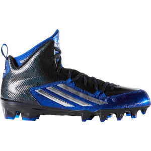 Adidas Men ' S Crazyquick 2 . 0 Mid Football Cleats - Core Black / Platinum / Royal