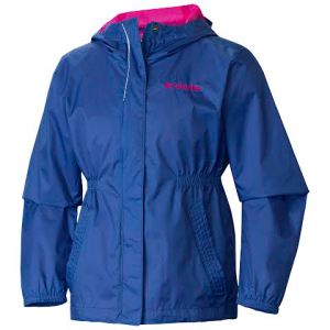 Columbia Girls Youth Explore More Rain Jacket - Bluebell