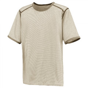 Columbia Boys Youth Mountain Tech Ringer Tee - Fossil