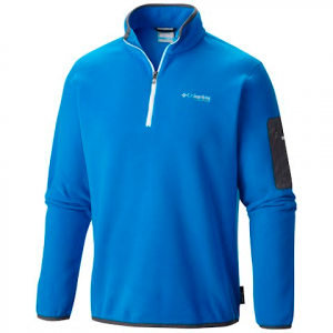 Columbia Men ' S Titan Pass 1 . 0 1 / 2 Zip Fleece Jacket - Hyper Blue