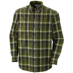 Columbia Mens Out And Back Long Sleeve Shirt - Charcoal / Black