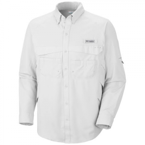 Columbia Men ' S Airgill Lite Ii Long Sleeve - White
