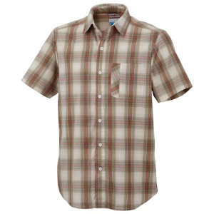 Columbia Mens Decoy Rock Short Sleeve Shirt - Fossil