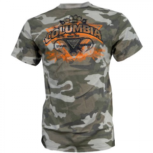 Columbia Men ' S Pfg Only The Strong Survive Tee - Flint Grey Camo