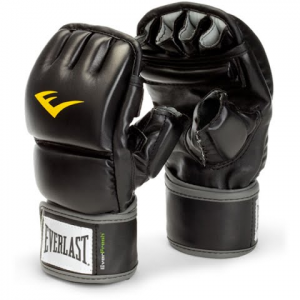Everlast Vinyl Wristwrap Heavy Bag Gloves - Black