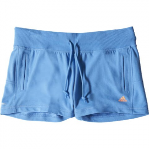 Adidas Women ' S Sport Essentials Logo Shorts - Lucky Blue
