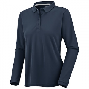 Columbia Women ' S Makaha Valley Long Sleeve Polo - Columbia Navy