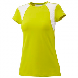 Columbia Women ' S Anytime Active Shortsleeve Top - Chartreuse