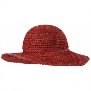 Columbia Women ' S Early Tide Straw Hat - Coral Bloom / Bright Geranium