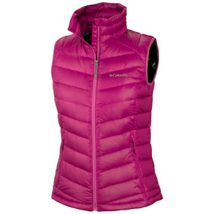 Columbia Women ' S Platinum 860 Turbodown Down Vest - Groovy Pink