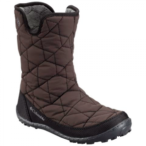Columbia Youth Girl ' S Minx Slip Omni - Heat Winter Boot - Black / Glamour