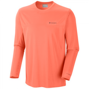 Columbia Men ' S Insect Blocker Long Sleeve - Bright Peach
