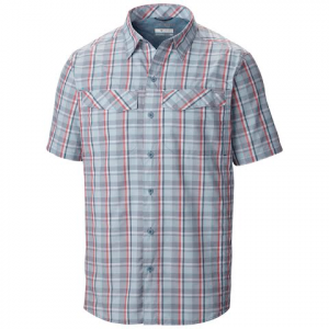 Columbia Mens Silver Ridge Multi Plaid Short Sleeve Shirt - Whale