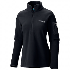 Columbia Women ' S Titan Pass 1 . 0 1 / 2 Zip Fleece Jacket - Black