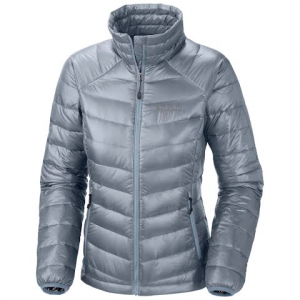 Columbia Women ' S Platinum 860 Turbodown Jacket - Tradewinds Grey