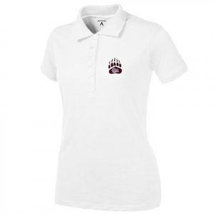 Antigua Women ' S U Of M Griz Paw Spark S / S Polo - White