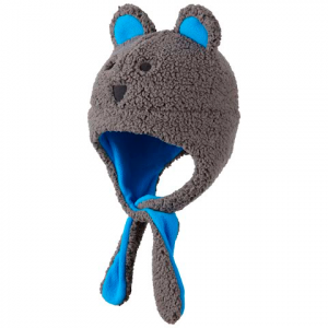 Columbia Toddler Tiny Bear Earflap Hat - Boulder / Hyper Blue