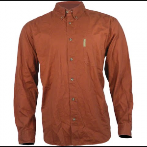 Columbia Men ' S Lewisville Twill Long Sleeve Shirt - Red Rover