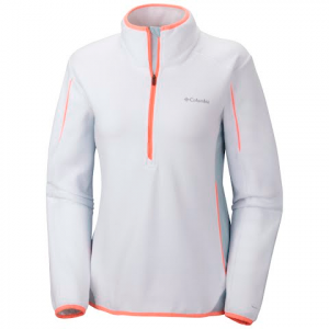 Columbia Women ' S Crosslight Half Zip Fleece Jacket - White
