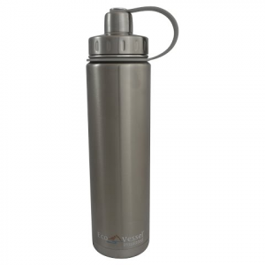 Eco Vessel Boulder 24oz Insulated Bottle - Silver Express