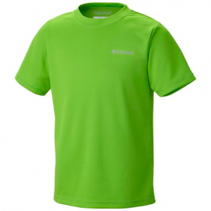 Columbia Youth Boy ' S Meeker Peak Ii Short Sleeve - Cyber Green