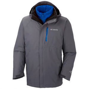 Columbia Men ' S Powderkeg Interchange Jacket - Graphite