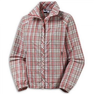 Columbia Women ' S Bybee Babe Jacket - Red Ibis Plaid