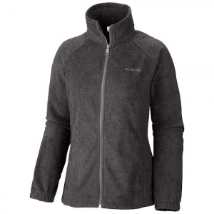 Columbia Women ' S Benton Springs Full Zip ( 1x - 3x ) - Charcoal Heather
