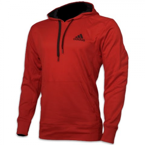 Adidas Men ' S Go To Pullover Hoodie - Scarlet