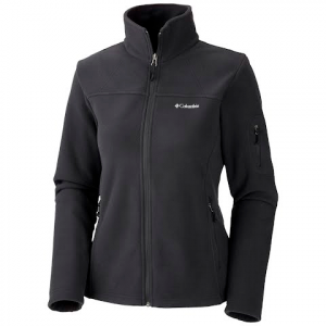 Columbia Women ' S Fast Trek Ii Full Zip Fleece Jacket ( Extended Sizes ) - Black