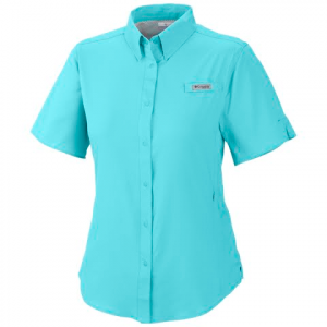 Columbia Women ' S Tamiami Ii Shorstsleeve Shirt ( Plus Sizes ) - Clear Blue
