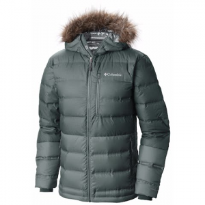 Columbia Men ' S North Protection Hooded Down Jacket - Pond Heather