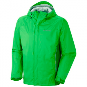Columbia Men ' S Rainstormer Technical Rain Jacket - Cyber Green
