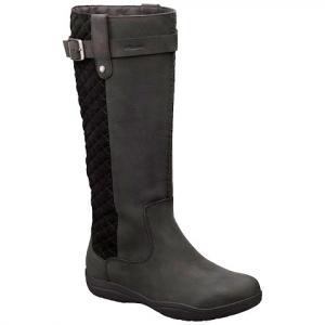 Columbia Women ' S Lisa Waterproof Leather Tall Boot - Black / Quarry