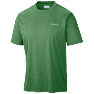 Columbia Men ' S Accelerwick Short Sleeve Shirt - Dark Backcountry