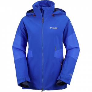 Columbia Women ' S Titanium Carvin ' Jacket - Blue Macaw