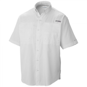 Columbia Men ' S Pfg Tamiami Ii Short Sleeve Shirt - White