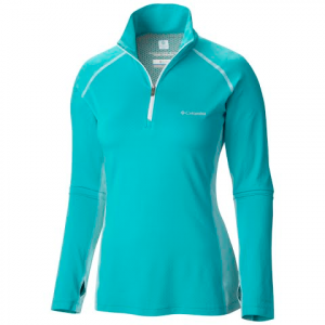 Columbia Women ' S Freeze Degree Iii 1 / 2 Zip - Geyser