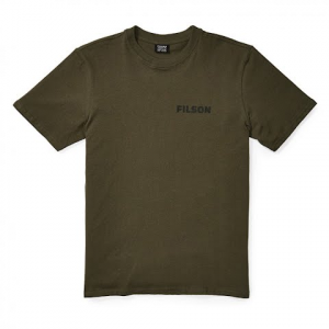 Filson Men ' S Short Sleeve Outfitter Graphic T - Shirt - Otter Green