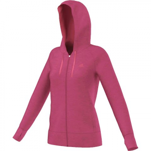 Adidas Women ' S Ultimate Full Zip Hoodie - Bold Pink