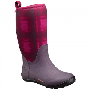 Columbia Women ' S Snowpow Tall Print Omni - Heat Winter Boot - Intense Violet / Melonade