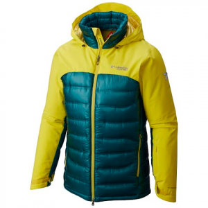 Columbia Men ' S Heatzone 1000 Turbodown Hooded Jacket - Mineral Yellow