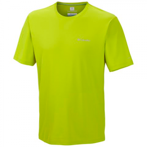 Columbia Men ' S Zero Rules Short Sleeve - Chartreuse