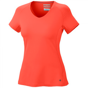 Columbia Women ' S Total Zero Short Sleeve V - Neck Top - Zing