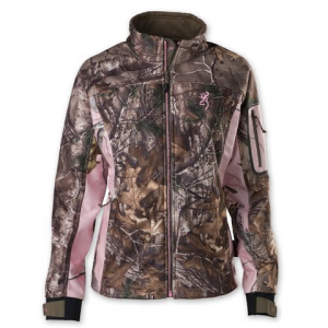 Browning Women ' S Hell ' S Belles Soft Shell Jacket - Realtree Xtra / Realtree Pink