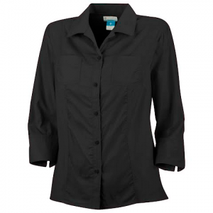Columbia Women ' S Sandy Dandy 3 / 4 Sleeve Shirt - Black
